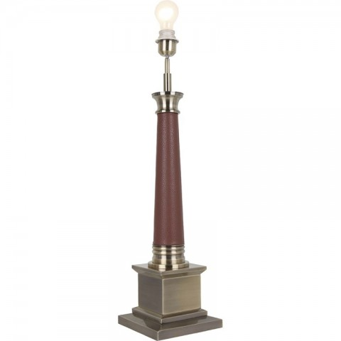 Artelore - Jacobs Brass Leather stolní lampa
