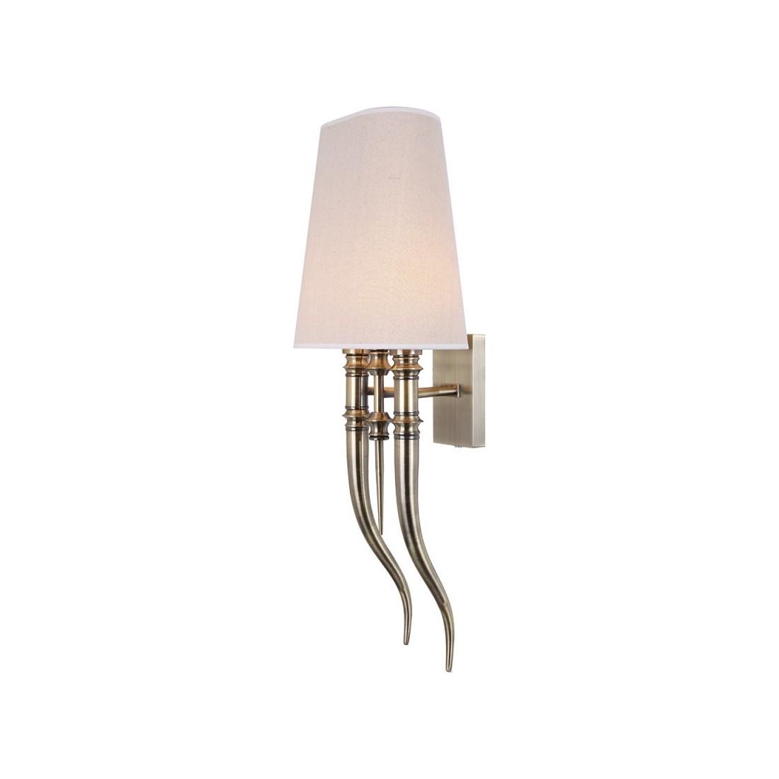Artelore - Casio Brass L Ecru nástěnná lampa