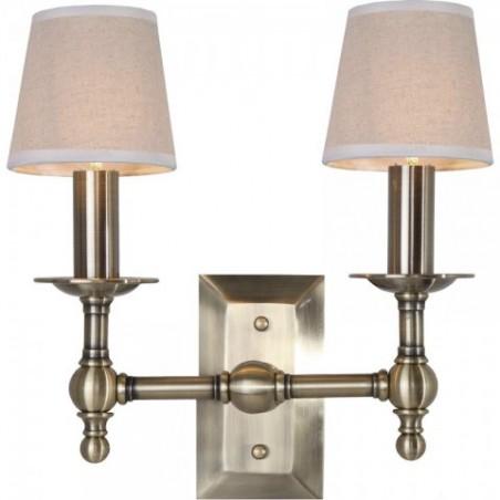 Kazan Brass Double nástěnná lampa