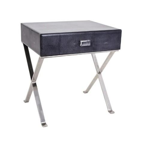 RV Astley - Dark Grey Sienna Shagreen odkládací stůl
