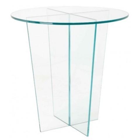 RV Astley - Glass Round odkládací stůl