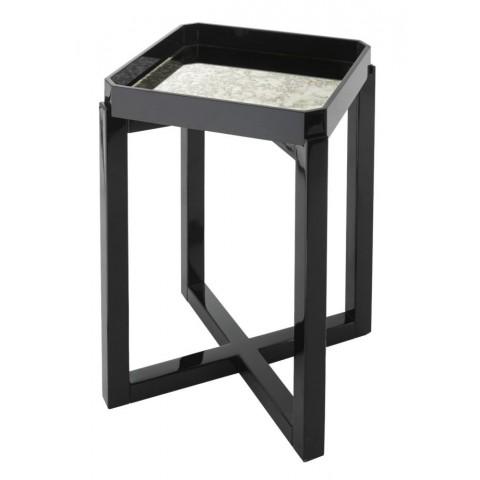 RV Astley - Leith Black Gloss odkládací stůl