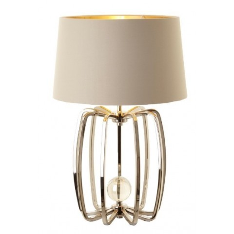 RV Astley - Cage Lamp Nickel stolní lampa