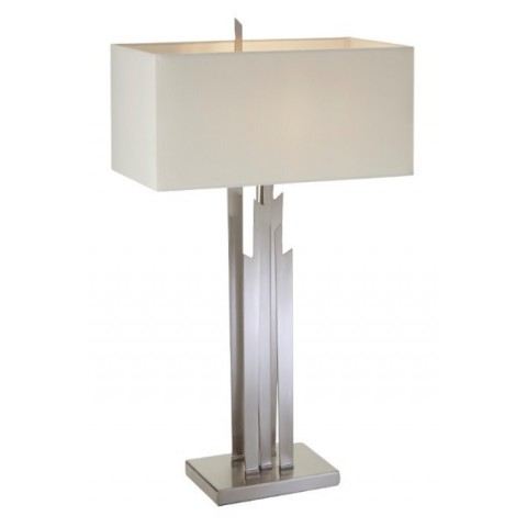 RV Astley - Carrick brushed nickel finish stolní lampa
