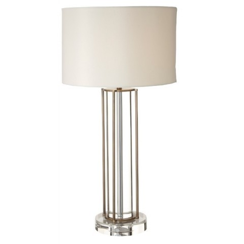RV Astley - Faroe Crystal & Antique brass stolní lampa