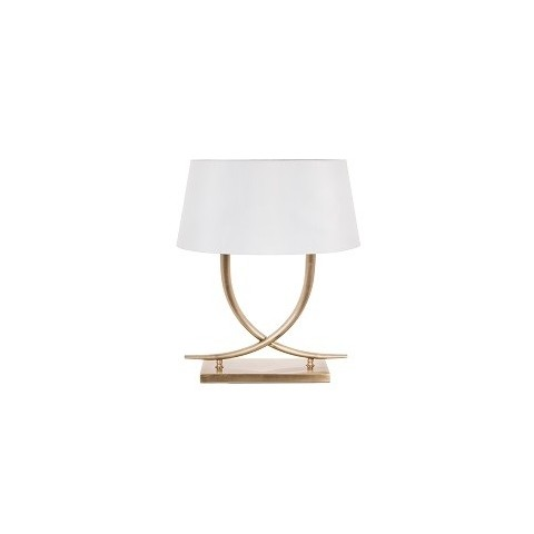 RV Astley - Iva Antique brass stolní lampa