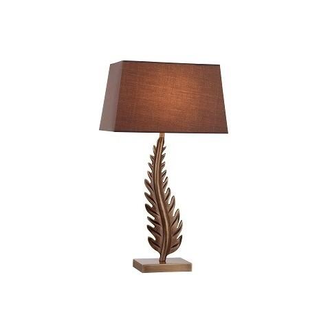RV Astley - Lia Antique brass stolní lampa