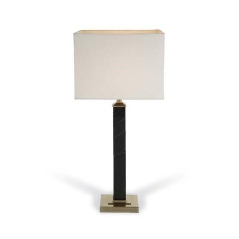 RV Astley - Marta Black Marble & Nickel stolní lampa