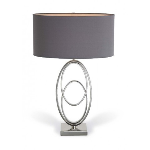 RV Astley - Oval Rings Nickel stolní lampa
