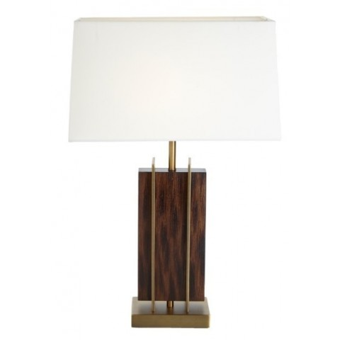 RV Astley - Parcent Wood & Brass Finish stolní lampa