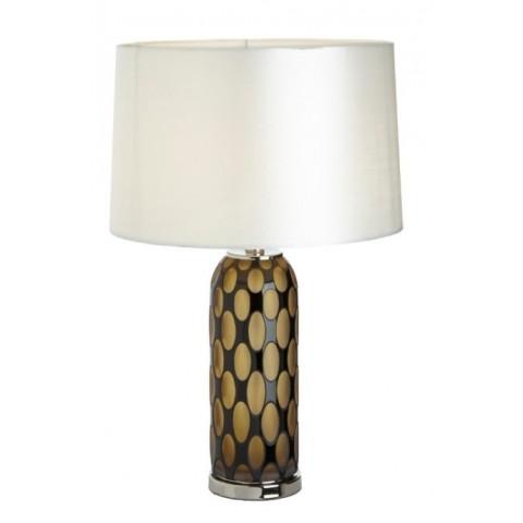 RV Astley - Sara Amber & Black glass stolní lampa