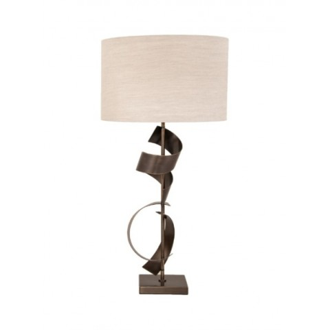 RV Astley - Scroll Dark Antique Brass stolní lampa