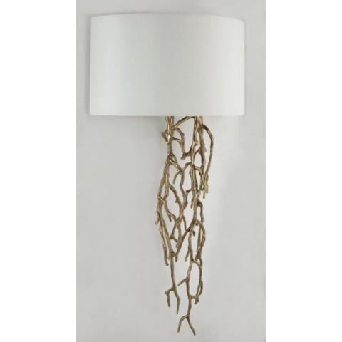 RV Astley - Brinley Antique Brass nástěnná lampa