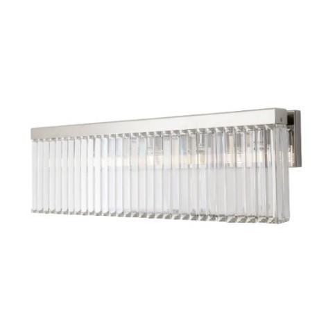 RV Astley - Melton Nickel and Crystal long nástěnná lampa
