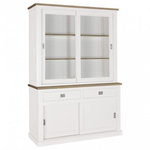 Richmond Interiors - Vitrína Boxx 2x2-doors 2-drawers + Oak