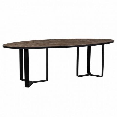 Richmond Interiors - Jídelní stůl Herringbone oval 240x120
