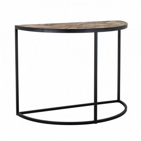 Richmond Interiors - Konzolový stolek Herringbone halve round
