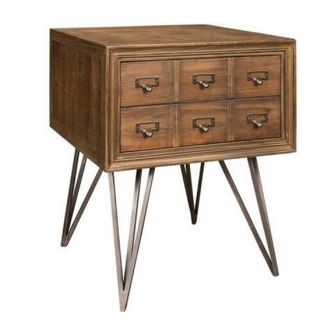 Richmond Interiors - Odkládací stůl Barclay 50x50 1-drawer
