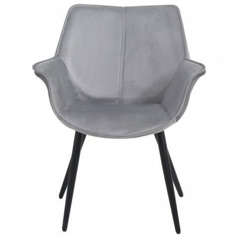 Richmond Interiors - Jídelní židle Quinn Grey Velvet