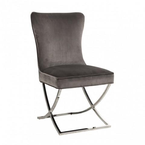 Richmond Interiors - Jídelní židle Scarlett Stone velvet / silver