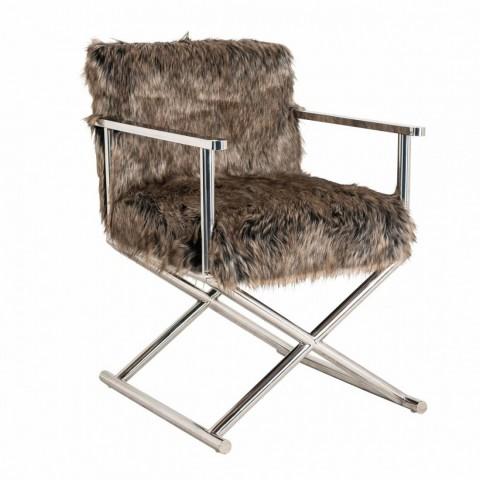 Richmond Interiors - Jídelní židle Abbey faux fur