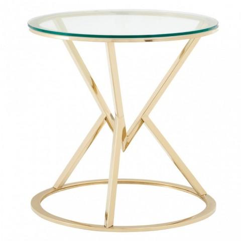 Kensington - Allure Triangle Gold odkládací stůl