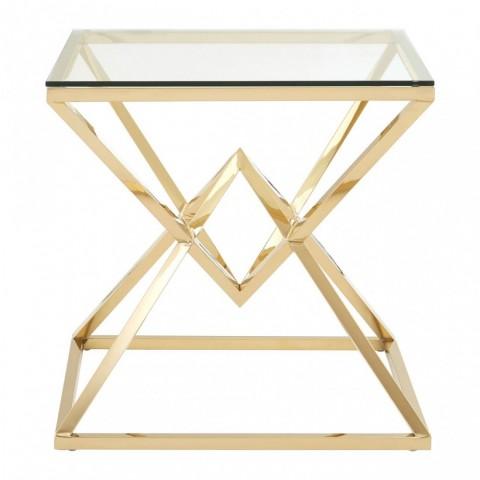 Kensington - Allure Square Gold odkládací stůl