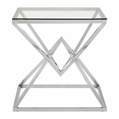 Kensington - Allure Square Silver odkládací stůl