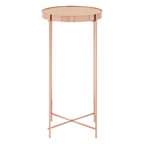 Kensington - Allure Pink Mirror Side odkládací stůl
