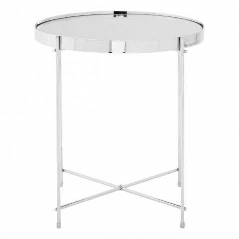 Kensington - Allure Silver Mirror Side odkládací stůl