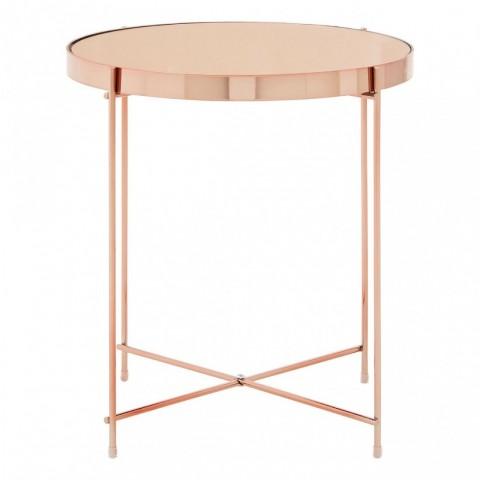 Kensington - Allure Pink Mirror Low Side odkládací stůl