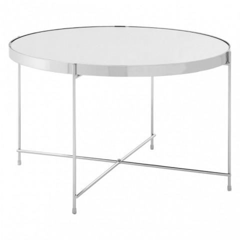 Kensington - Allure Oval Chrome Side odkládací stůl