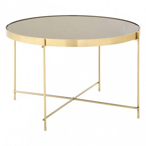 Kensington - Allure Oval Gold Side odkládací stůl