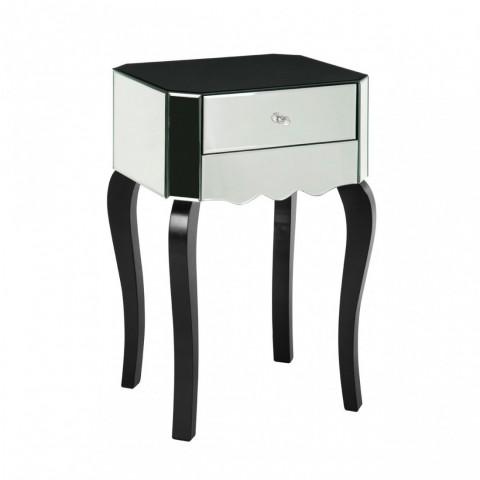 Kensington - Orchid Mirrored Side odkládací stůl
