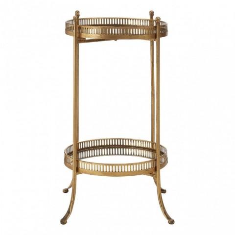 Kensington - Reza Antique Gold Tray odkládací stůl