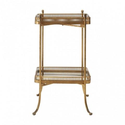 Kensington - Reza Mirrored Gold Tray odkládací stůl