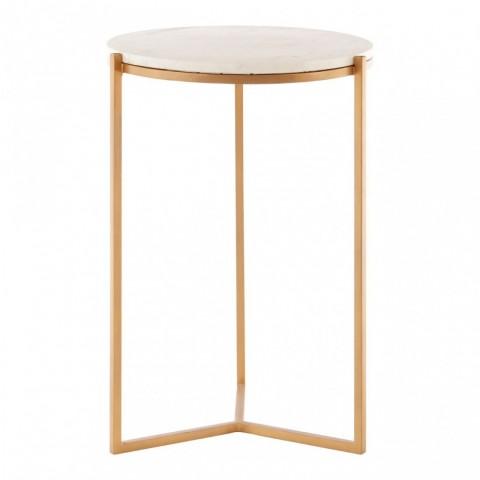 Kensington - Shalimar Marble Round odkládací stůl