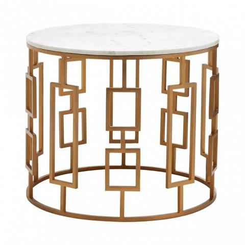 Kensington - Shalimar Round Marble Side odkládací stůl