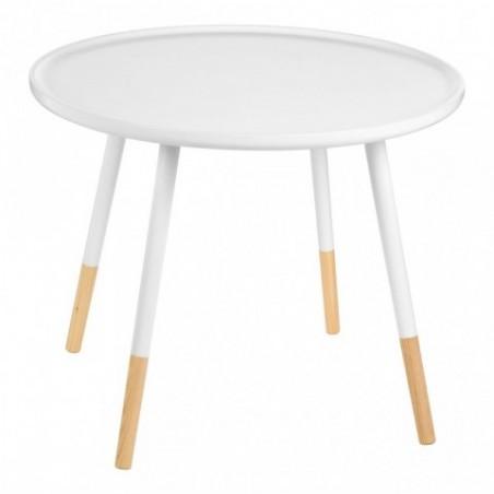 Viborg Round White Side odkládací stůl