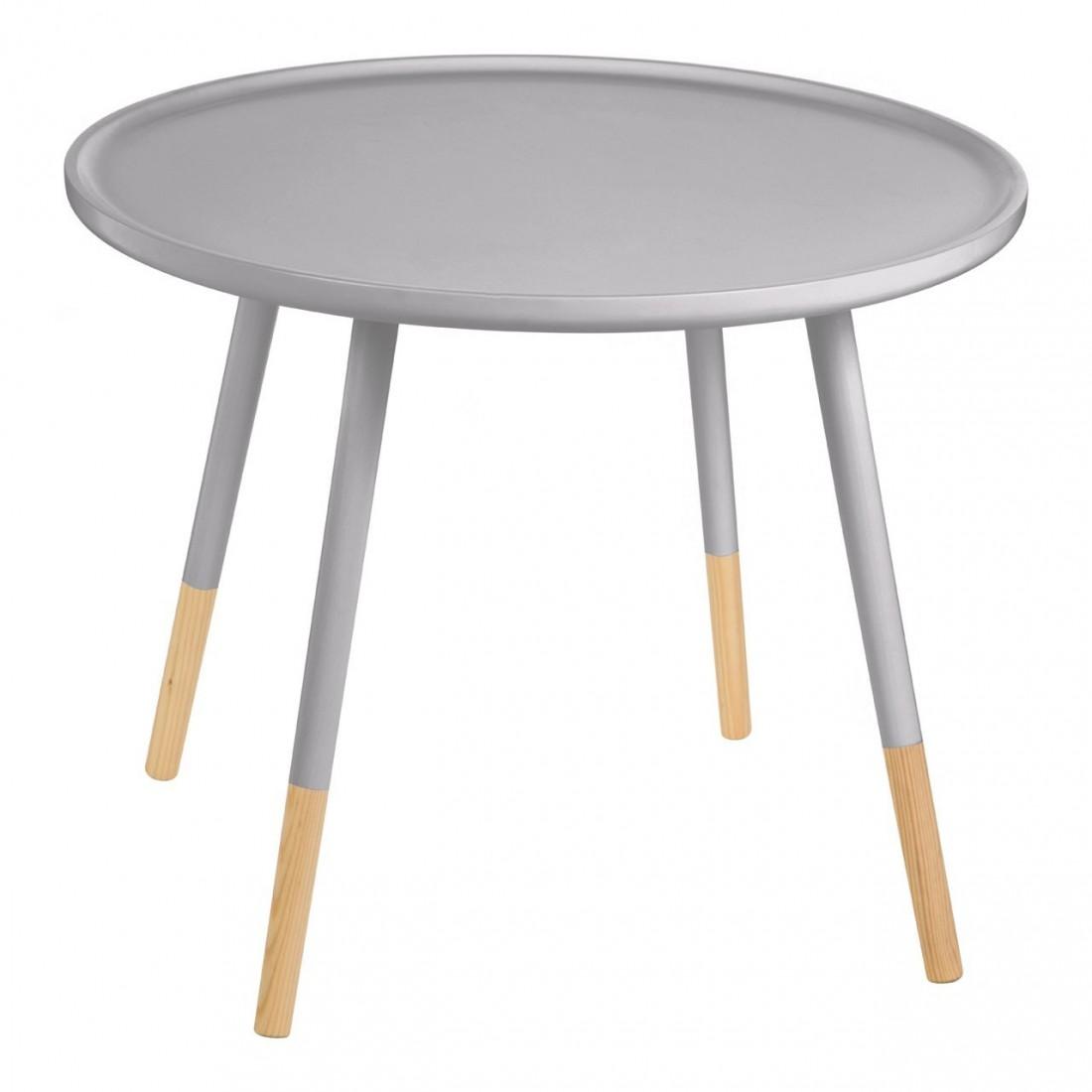 Kensington - Viborg Round Grey Side odkládací stůl