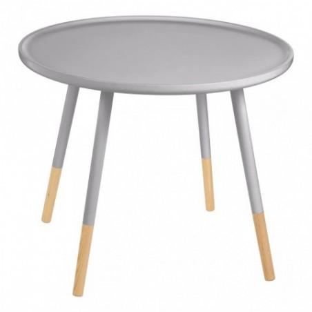 Viborg Round Grey Side odkládací stůl