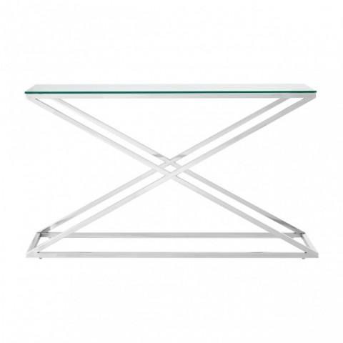 Criss Cross Silver Konzolový stůl