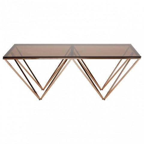 Kensington - Allure Champagne Metal Dohányzóasztal