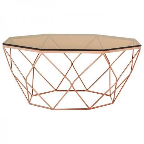 Kensington - Allure Rose Gold Dohányzóasztal