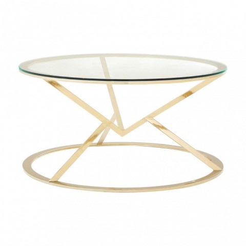Kensington - Allure Corseted Round Champagne Dohányzóasztal