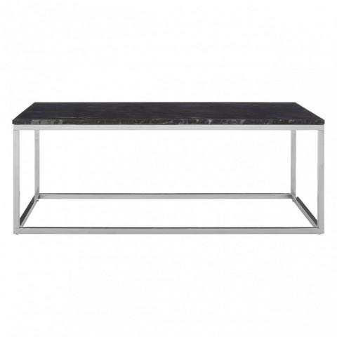 Kensington - Allure Rectangular Black Marble Dohányzóasztal