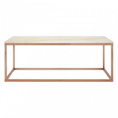 Kensington - Allure Rectangular White Marble Dohányzóasztal