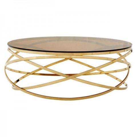 Kensington - Allure Round Champagne Dohányzóasztal