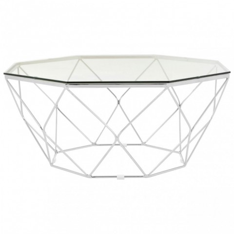 Kensington - Allure Tempered Glass Chrome Dohányzóasztal