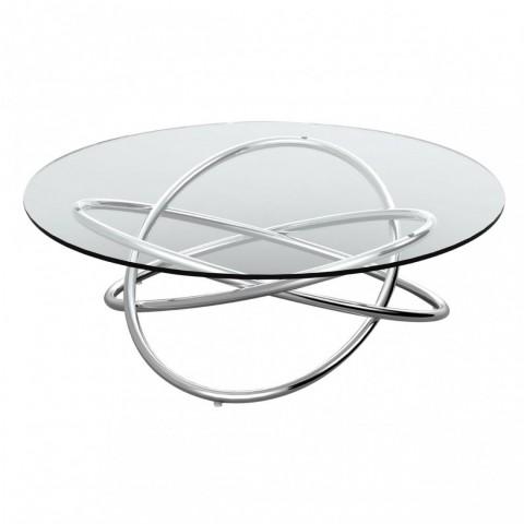 Kensington - Round Glass Dohányzóasztal
